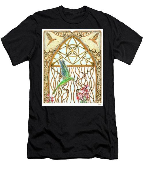 Hummingbird Sanctuary Men's T-Shirt (Athletic Fit)