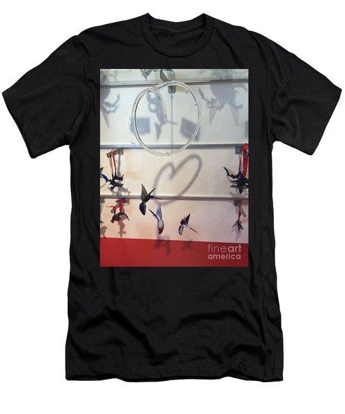 Hummingbird Shadows Men's T-Shirt (Athletic Fit)