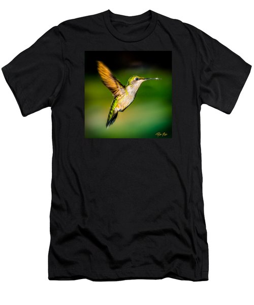 Men's T-Shirt (Athletic Fit) featuring the photograph Hummingbird Sparkle by Rikk Flohr
