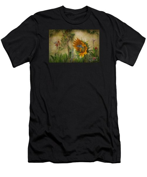 Hummingbirds In My Garden Men's T-Shirt (Athletic Fit)