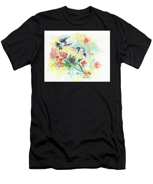 Hummingbirds Secret Garden Men's T-Shirt (Athletic Fit)