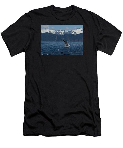 Humpback Whale Breach Seward Men's T-Shirt (Athletic Fit)