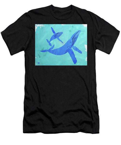 Humpback Whales Men's T-Shirt (Athletic Fit)
