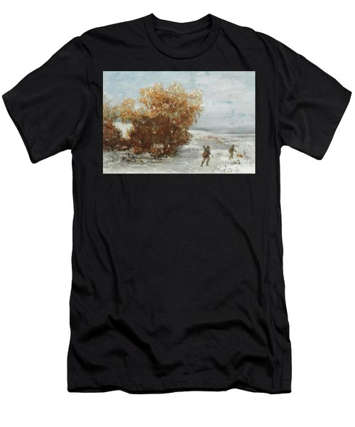 Hunters In The Snow  Detail Men's T-Shirt (Athletic Fit)