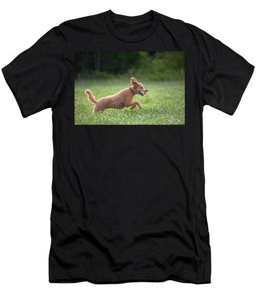 Hunting Dog Men's T-Shirt (Slim Fit) by Teemu Tretjakov
