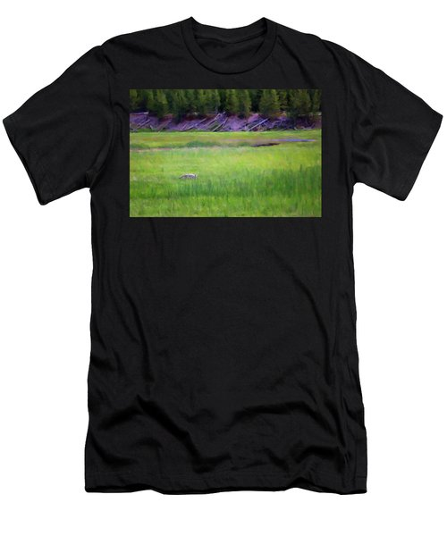 Men's T-Shirt (Athletic Fit) featuring the photograph Hunting by Sue Collura