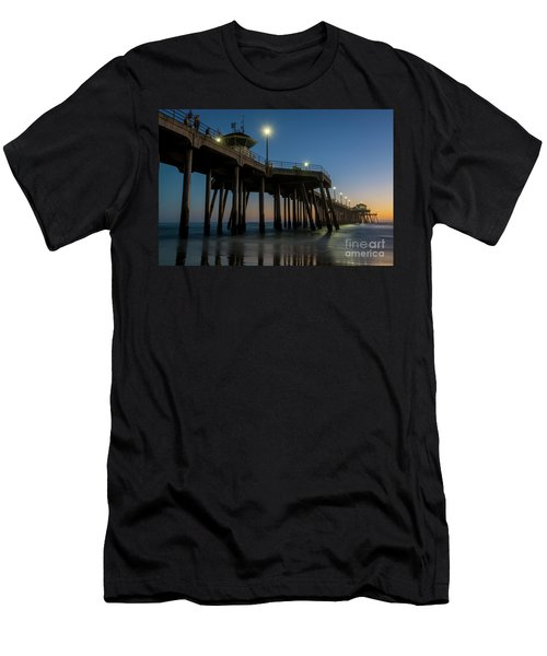 Huntington Beach Pier At Dusk Men's T-Shirt (Athletic Fit)