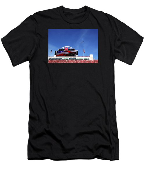 Husker Memorial Stadium Air Force Fly Over Men's T-Shirt (Athletic Fit)