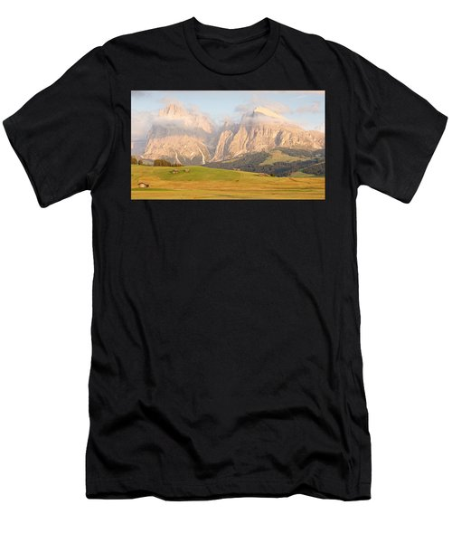 Huts On The Alpe Di Siusi Men's T-Shirt (Athletic Fit)