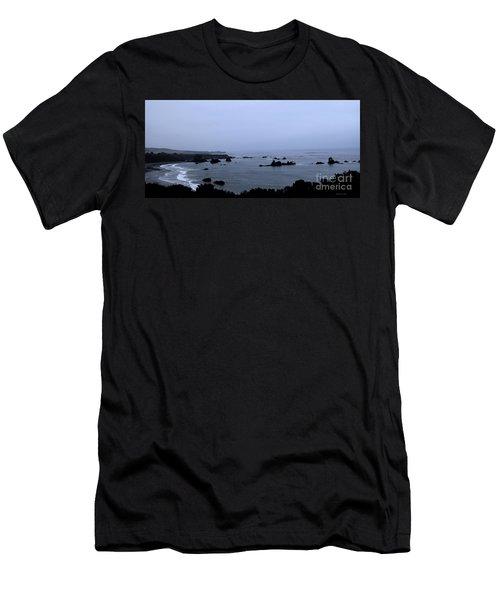 Hwy 1 San Simeon Men's T-Shirt (Athletic Fit)