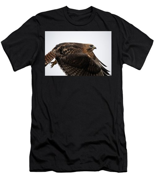 Men's T-Shirt (Athletic Fit) featuring the photograph Hybrid Hawk Flyby  by Brian Hale