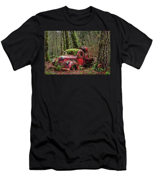 Hybrid Fire Truck Men's T-Shirt (Athletic Fit)