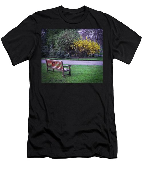 Hyde Park Bench - London Men's T-Shirt (Athletic Fit)