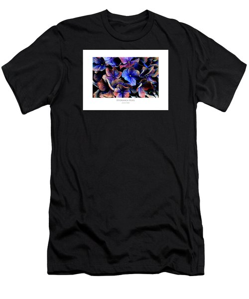 Men's T-Shirt (Athletic Fit) featuring the digital art Hydranga Hues by Julian Perry