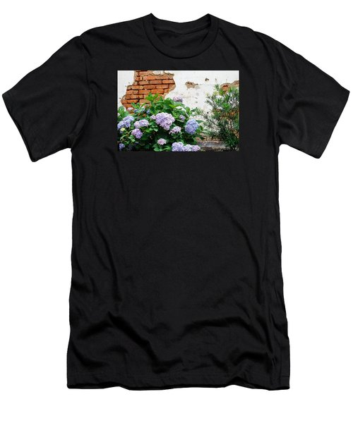 Hydrangea And Bricks Men's T-Shirt (Athletic Fit)