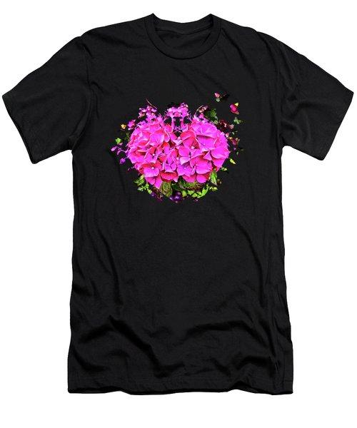 For The Love Of Hydrangeas Men's T-Shirt (Slim Fit) by Thom Zehrfeld