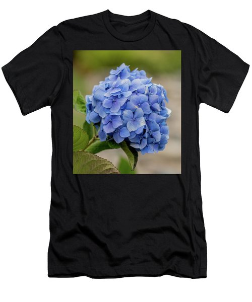 #hydrangea In Blue Men's T-Shirt (Athletic Fit)