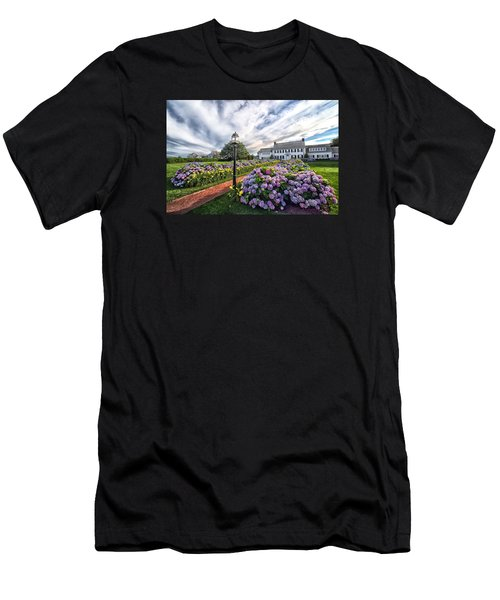 Hydrangea Walk House Men's T-Shirt (Slim Fit) by Constantine Gregory