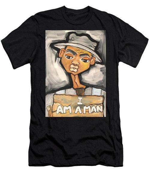 I Am A Man Men's T-Shirt (Athletic Fit)