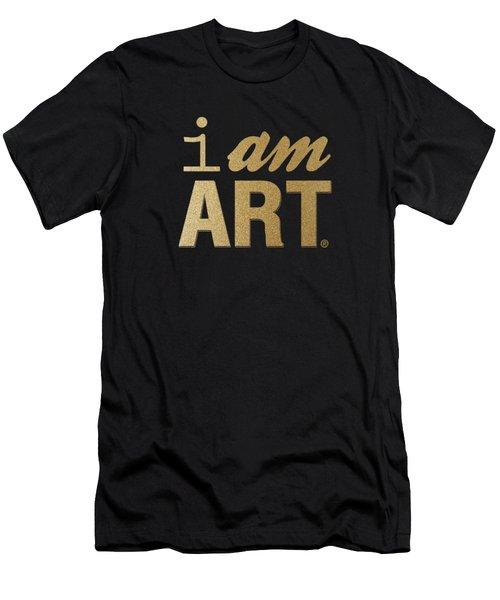 I Am Art- Gold Men's T-Shirt (Athletic Fit)