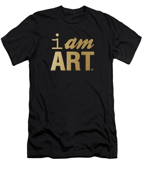 I Am Art- Gold Men's T-Shirt (Athletic Fit)