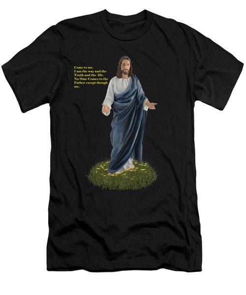 I Am The Way John 14 6 Men's T-Shirt (Athletic Fit)