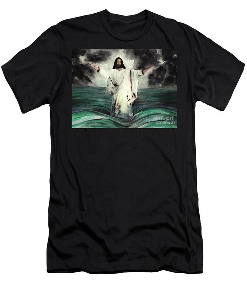 I Am Will Calm Your Sea Men's T-Shirt (Slim Fit) by Hazel Holland