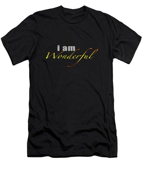 i am Wonderful Men's T-Shirt (Athletic Fit)
