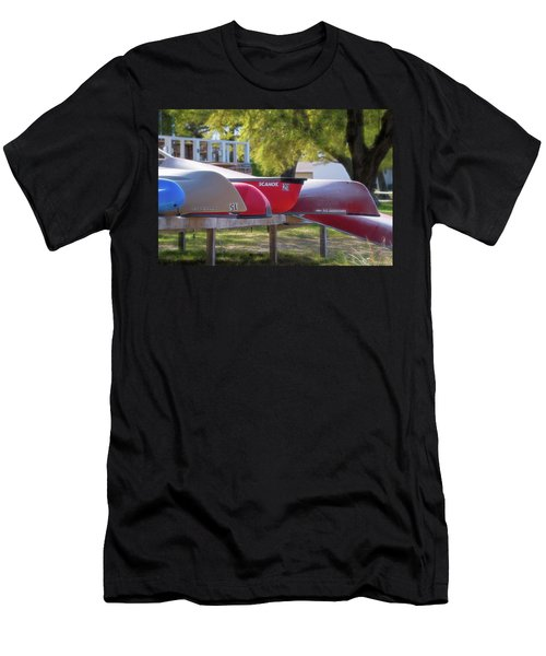 I Believe I'll Go Canoeing Men's T-Shirt (Athletic Fit)
