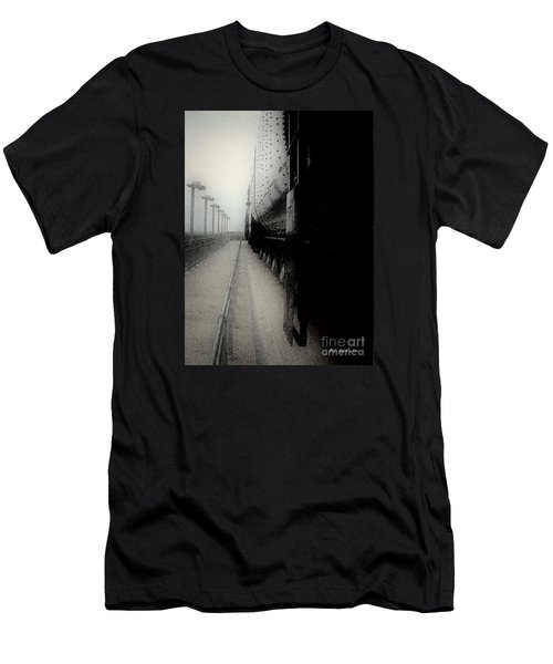 Men's T-Shirt (Slim Fit) featuring the drawing I Hear That Lonesome Whistle Blow by RC deWinter