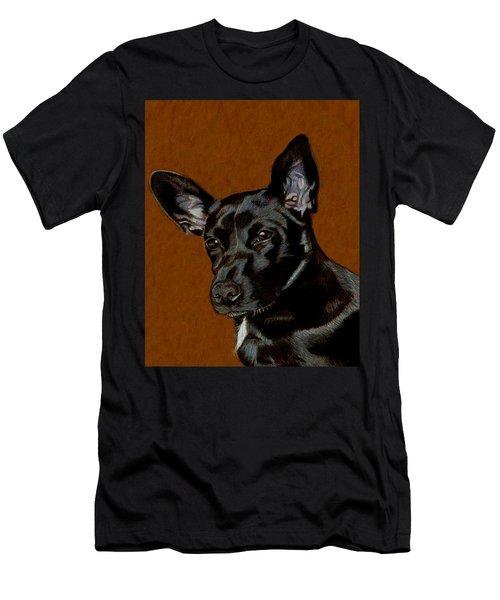I Hear Ya - Dog Painting Men's T-Shirt (Athletic Fit)