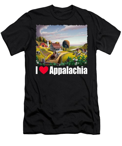 I Love Appalachia T Shirt - Appalachian Blackberry Patch Men's T-Shirt (Athletic Fit)