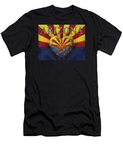 I Love Arizona Flag Men's T-Shirt (Athletic Fit)