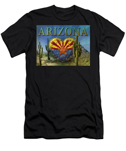 I Love Arizona Landscape Men's T-Shirt (Athletic Fit)