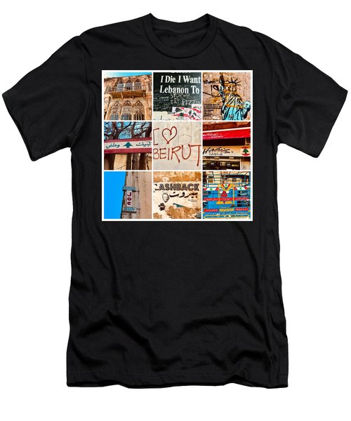 I Love Beirut Men's T-Shirt (Athletic Fit)