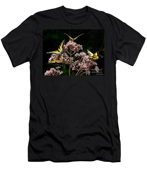 I Love Butterflies  Men's T-Shirt (Athletic Fit)