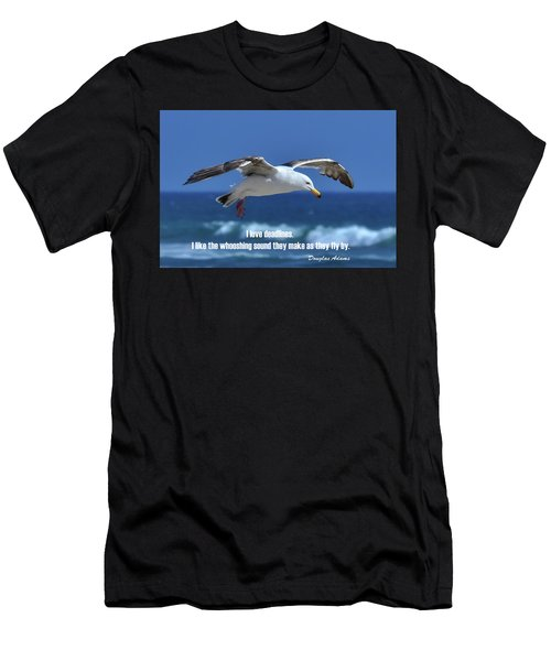 Men's T-Shirt (Athletic Fit) featuring the digital art I Love Deadlines Douglas Adams by Anthony Murphy