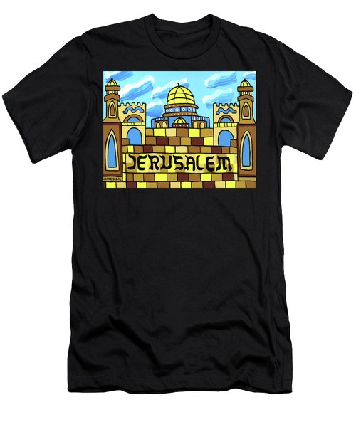 I Love Jerusalem Men's T-Shirt (Athletic Fit)