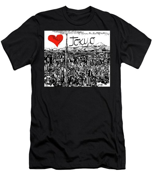 I Love Tokyo Men's T-Shirt (Slim Fit) by Sladjana Lazarevic