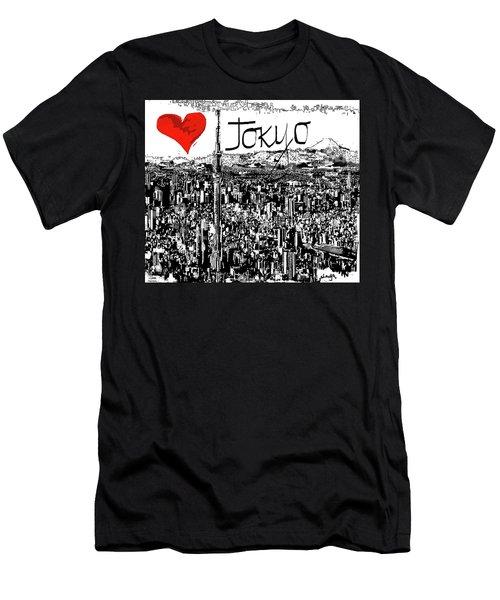 I Love Tokyo Men's T-Shirt (Athletic Fit)