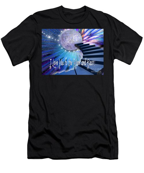 I Love You To The Moon And Back Men's T-Shirt (Athletic Fit)