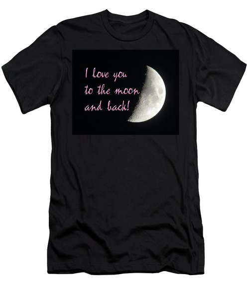I Love You To The Moon Pink Men's T-Shirt (Athletic Fit)