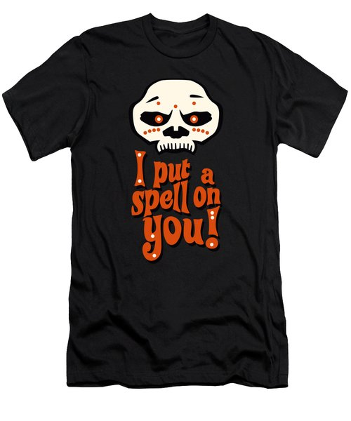 I Put A Spell On You Voodoo Retro Poster Men's T-Shirt (Athletic Fit)