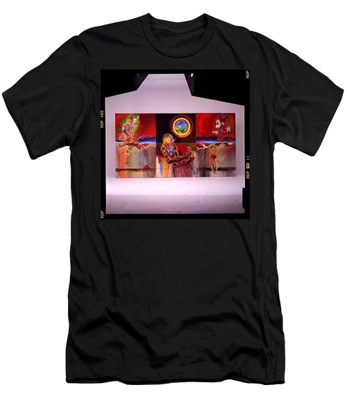 Men's T-Shirt (Slim Fit) featuring the painting I Saw The Figure Five In Gold by Charles Stuart