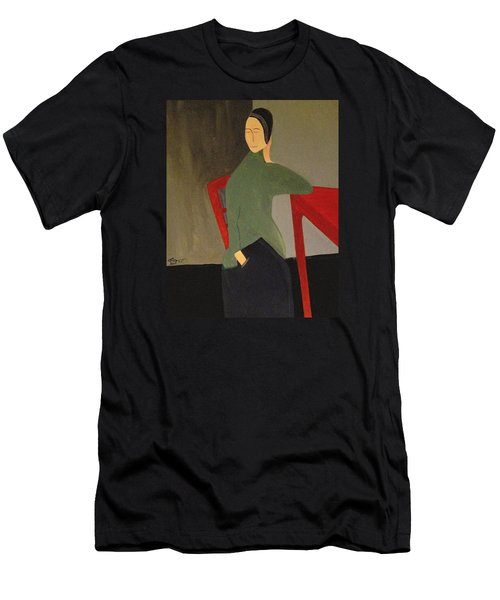 Men's T-Shirt (Slim Fit) featuring the painting I Simply Refuse To Listen by Bill OConnor