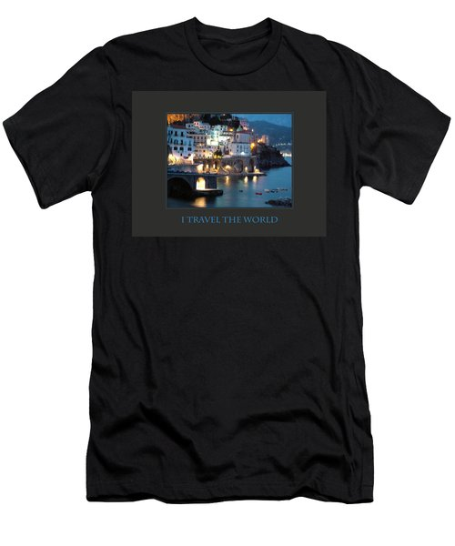 I Travel The World Amalfi Men's T-Shirt (Slim Fit) by Donna Corless