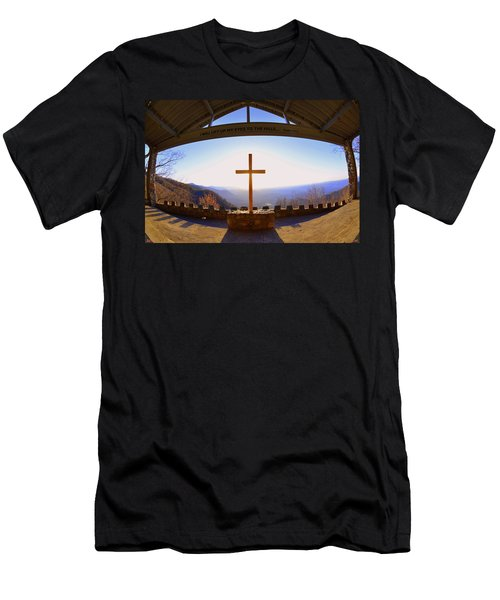 I Will Lift My Eyes To The Hills Psalm 121 1 Men's T-Shirt (Athletic Fit)