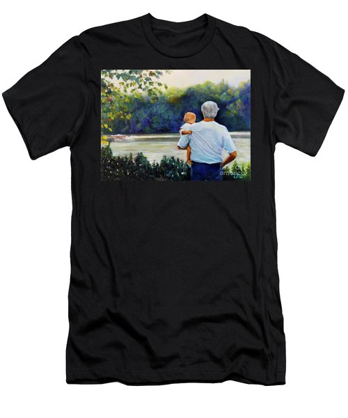 Ian And His Daddy One Sunday Afternoon Men's T-Shirt (Athletic Fit)