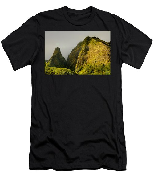 Iao Needle And Mountain Men's T-Shirt (Athletic Fit)
