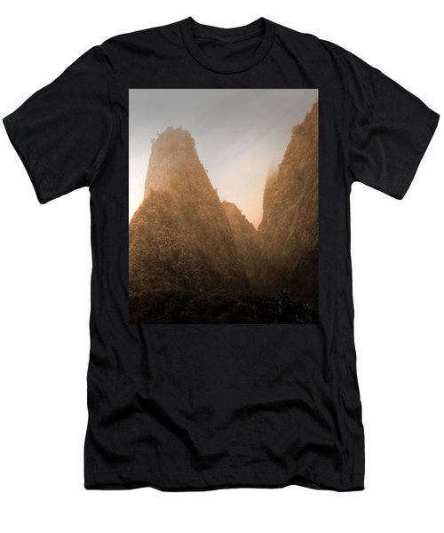 Iao Needle In Sepia Men's T-Shirt (Athletic Fit)
